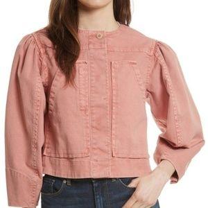 LA VIE REBECCA TAYLOR Garment Dyed Twill Jacket
